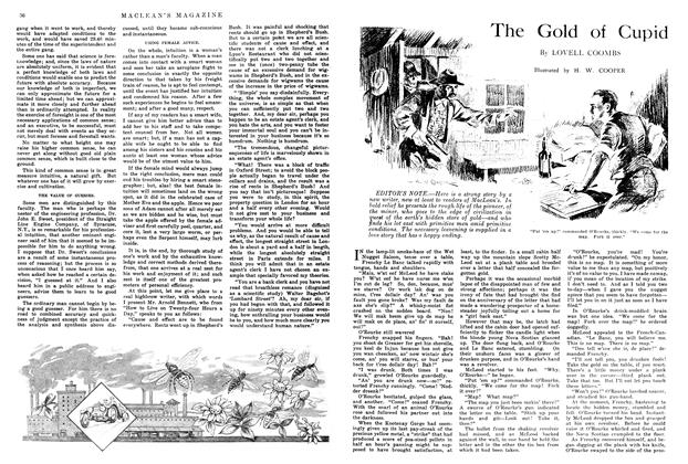 Article Preview: The Gold of Cupid, July 1914 | Maclean's