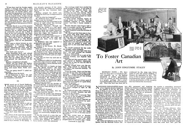 Article Preview: To Foster Canadian Art, July 1914 | Maclean's