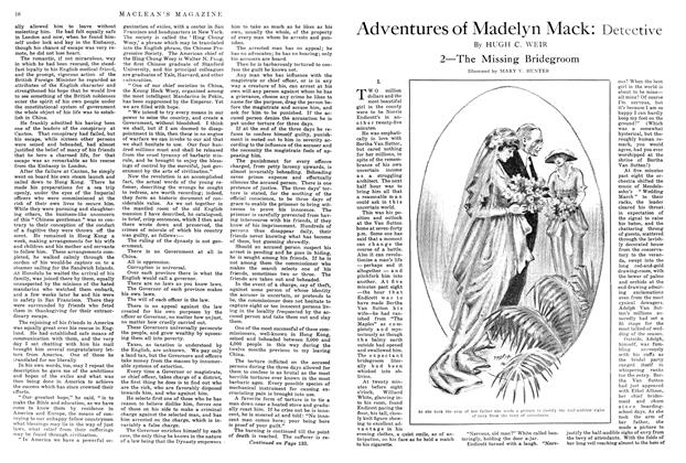 Article Preview: Adventures of Madelyn Mack: Detective, August 1914 | Maclean's