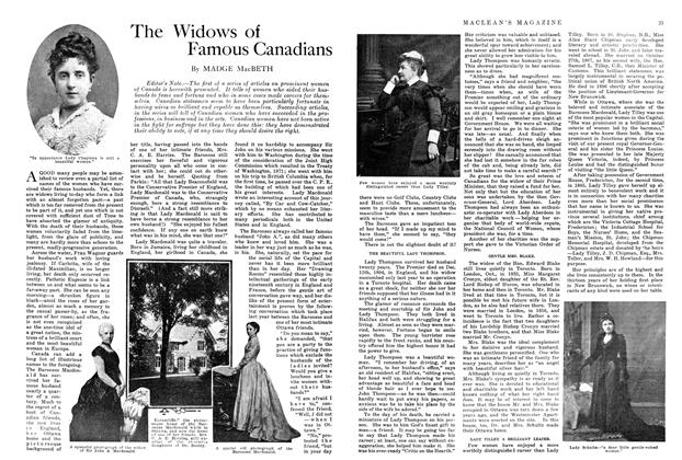 Article Preview: The Widows of Famous Canadians, August 1914 | Maclean's