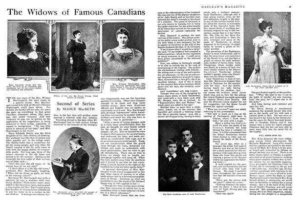 Article Preview: The Widows of Famous Canadians, September 1914 | Maclean's