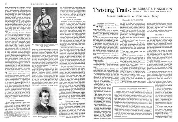 Article Preview: Twisting Trails: Second Instalment of New Serial Story, September 1914 | Maclean's