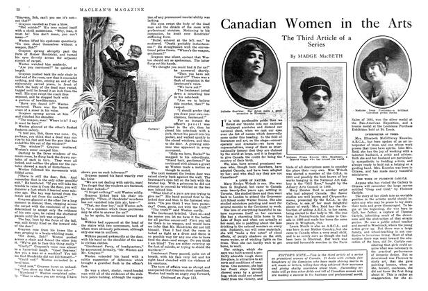 Article Preview: Canadian Women in the Arts, October 1914 | Maclean's