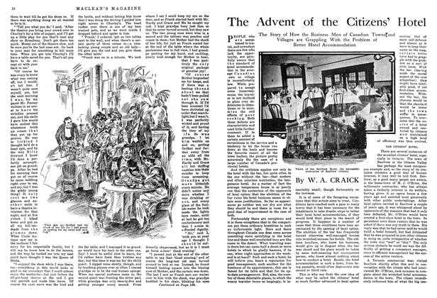 Article Preview: The Advent of the Citizens' Hotel, October 1914 | Maclean's