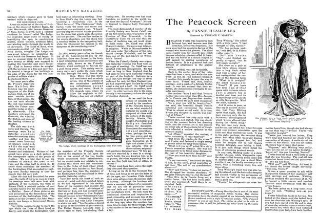 Article Preview: The Peacock Screen, November 1914 | Maclean's