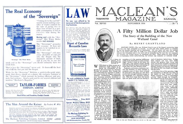 Article Preview: A Fifty Million Dollar Job, November 1914 | Maclean's
