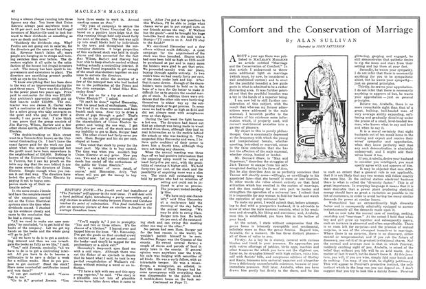 Article Preview: Comfort and the Conservation of Marriage, November 1914 | Maclean's