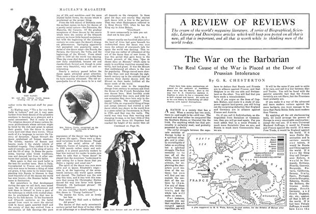 Article Preview: The War on the Barbarian, November 1914 | Maclean's