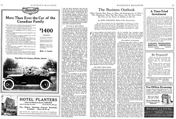 Article Preview: The Business Outlook, November 1914 | Maclean's
