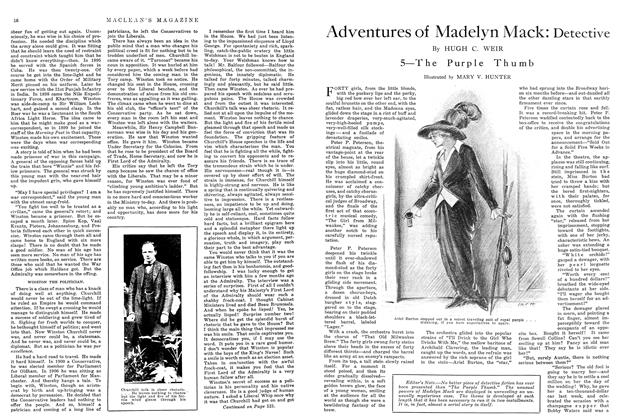 Article Preview: Adventures of Madelyn Mack: Detective, November 1914 | Maclean's