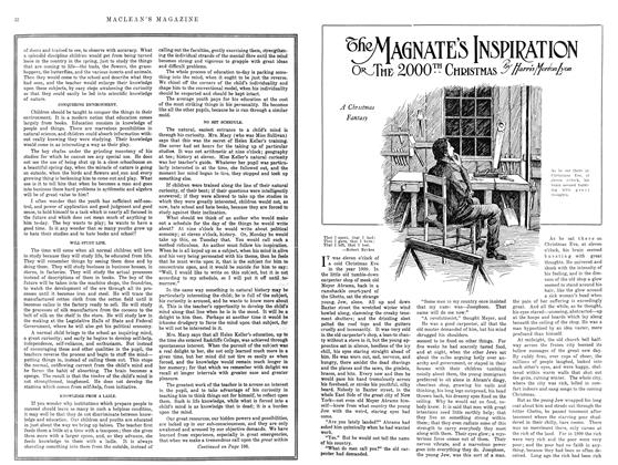 Article Preview: The MAGNATE'S INSPIRATION OR THE 2000TH CHRISTMAS, December 1914 | Maclean's