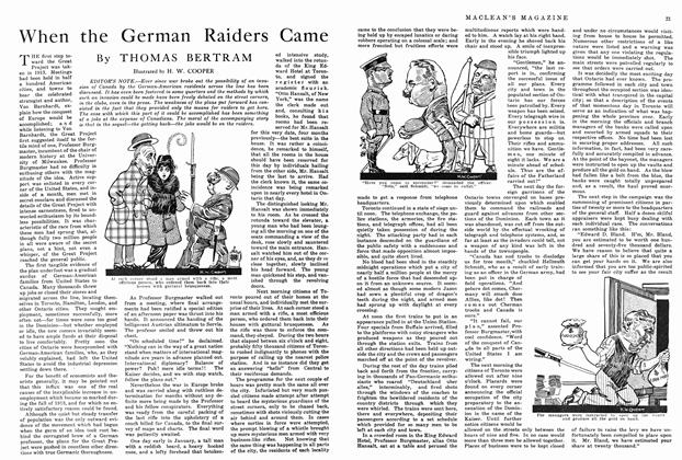 Article Preview: When the German Raiders Came, January 1915 | Maclean's