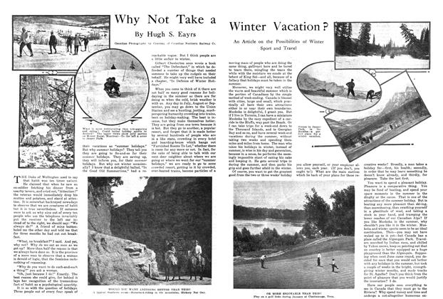 Article Preview: Why Not Take a Winter Vacation?, January 1915 | Maclean's