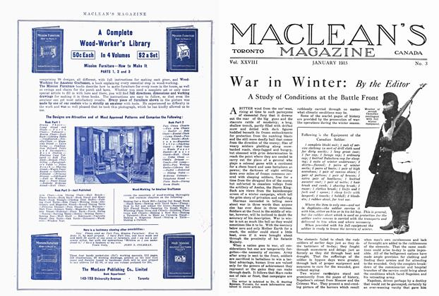 Article Preview: War in Winter, January 1915 | Maclean's