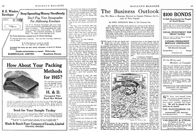 Article Preview: The Business Outlook, January 1915 | Maclean's