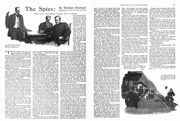Article Preview: The Spies, January 1915 | Maclean's