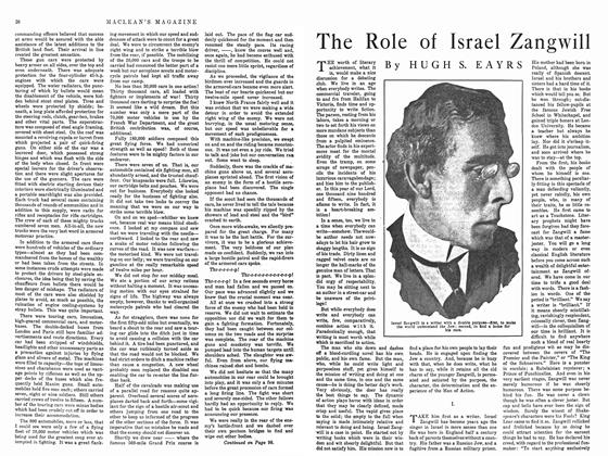 Article Preview: The Role of Israel Zangwill, February 1915 | Maclean's