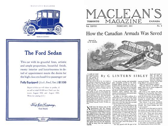 Article Preview: How the Canadian Armada Was Saved, February 1915 | Maclean's