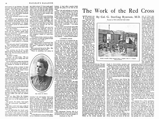 Article Preview: The Work of the Red Cross, February 1915 | Maclean's