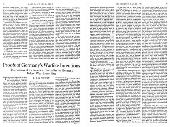 Article Preview: Proofs of Germany's Warlike Intentions, February 1915 | Maclean's