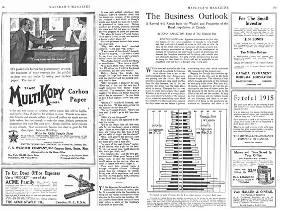 Article Preview: The Business Outlook, February 1915 | Maclean's
