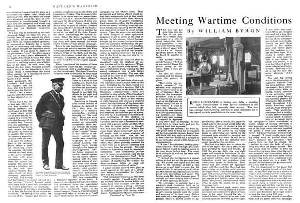 Article Preview: Meeting Wartime Conditions, March 1915 | Maclean's
