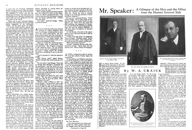 Article Preview: Mr. Speaker: A Glimpse of the Man and the Office from the Human Interest Side, March 1915 | Maclean's