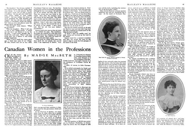 Article Preview: Canadian Women in the Professions, March 1915 | Maclean's