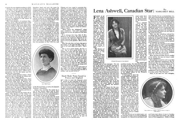 Article Preview: Lena Ashwell, Canadian Star, March 1915 | Maclean's