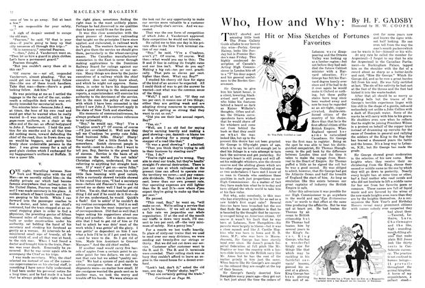 Article Preview: Who, How and Why: Hit or Miss Sketches of Fortunes Favorites, March 1915 | Maclean's