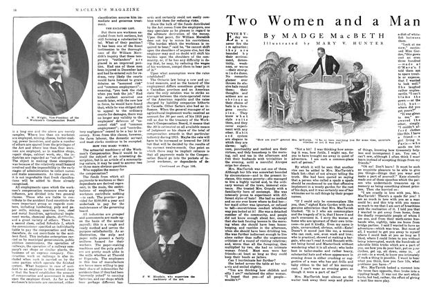 Article Preview: Two Women and a Man, April 1915 | Maclean's