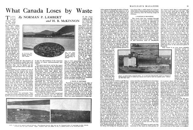 Article Preview: What Canada Loses by Waste, April 1915 | Maclean's