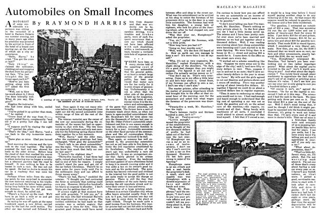 Article Preview: Automobiles on Small Incomes, May 1915 | Maclean's