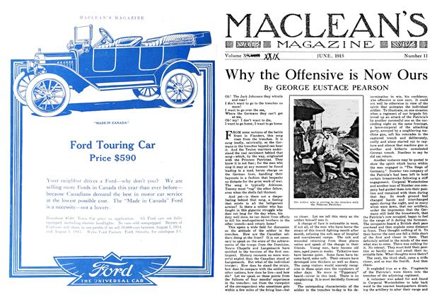 Article Preview: Why the Offensive is Now Ours, June 1915 | Maclean's