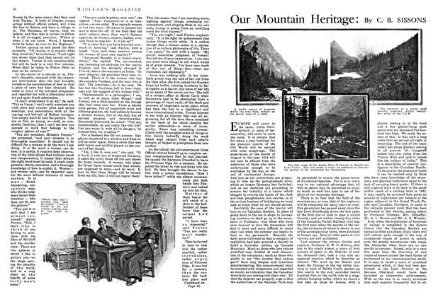 Article Preview: Our Mountain Heritage, July 1915 | Maclean's