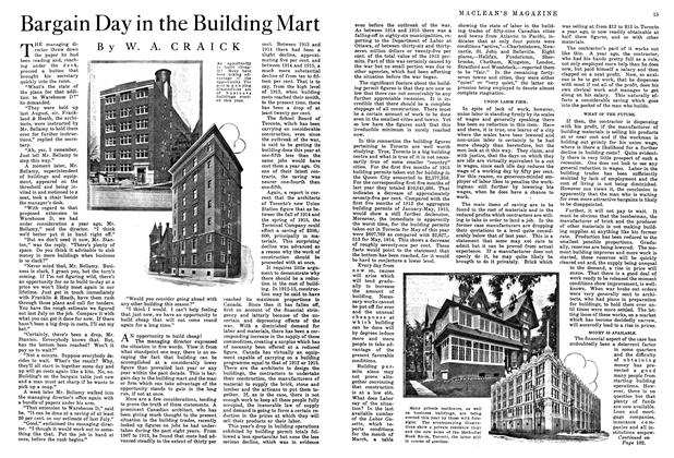 Article Preview: Bargain Day in the Building Mart, July 1915 | Maclean's
