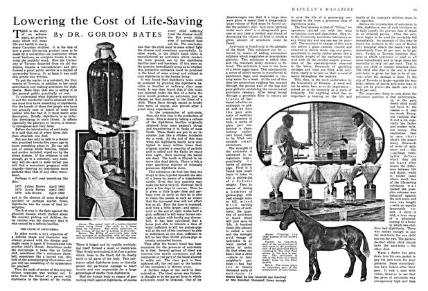 Article Preview: Lowering the Cost of Life-Saving, August 1915 | Maclean's