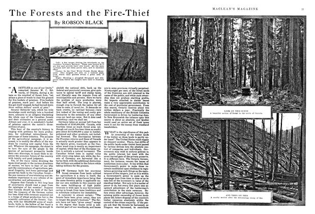 Article Preview: The Forests and the Fire-Thief, August 1915 | Maclean's