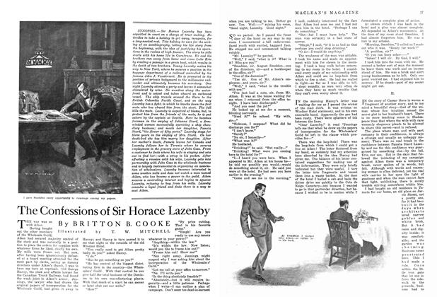 Article Preview: The Confessions of Sir Horace Lazenby, September 1915 | Maclean's