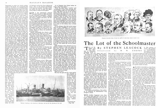 Article Preview: The Lot of the Schoolmaster, September 1915 | Maclean's