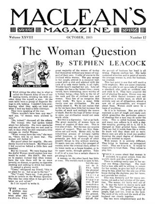 Article Preview: The Woman Question, October 1915 | Maclean's