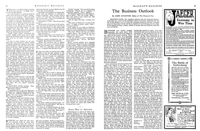 Article Preview: The Business Outlook, October 1915 | Maclean's