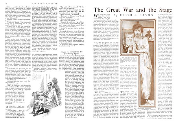 Article Preview: The Great War and the Stage, November 1915 | Maclean's