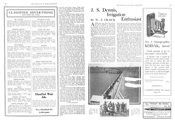 Article Preview: J. S. Dennis, Irrigation Enthusiast, November 1915 | Maclean's