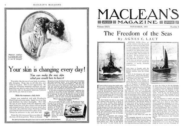 Article Preview: The Freedom of the Seas, November 1915 | Maclean's