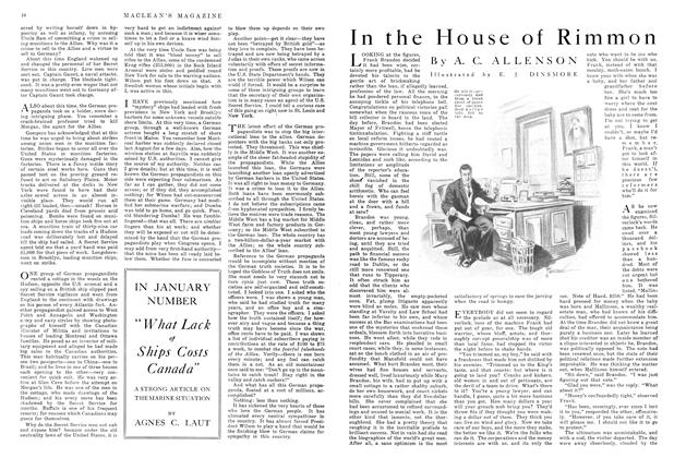 Article Preview: In the House of Rimmon, December 1915 | Maclean's
