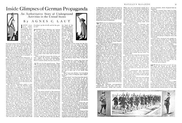 Article Preview: Inside Glimpses of German Propaganda, December 1915 | Maclean's
