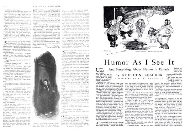 Article Preview: Humor As I See It, May 1916 | Maclean's