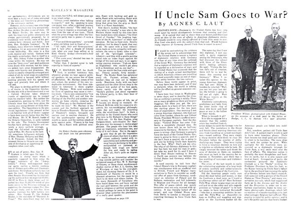 Article Preview: If Uncle Sam Goes to War?, May 1916 | Maclean's