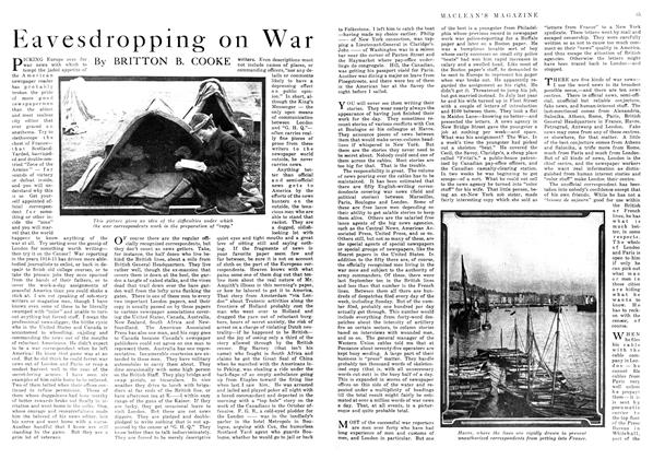 Article Preview: Eavesdropping on War, June 1916 | Maclean's